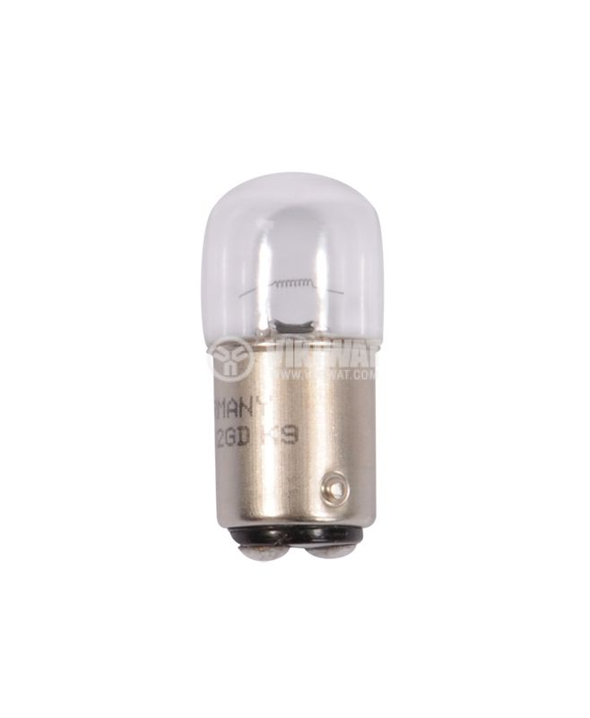 Автомобилна лампа BA5D, 24VDC, 10W, R10W - 1