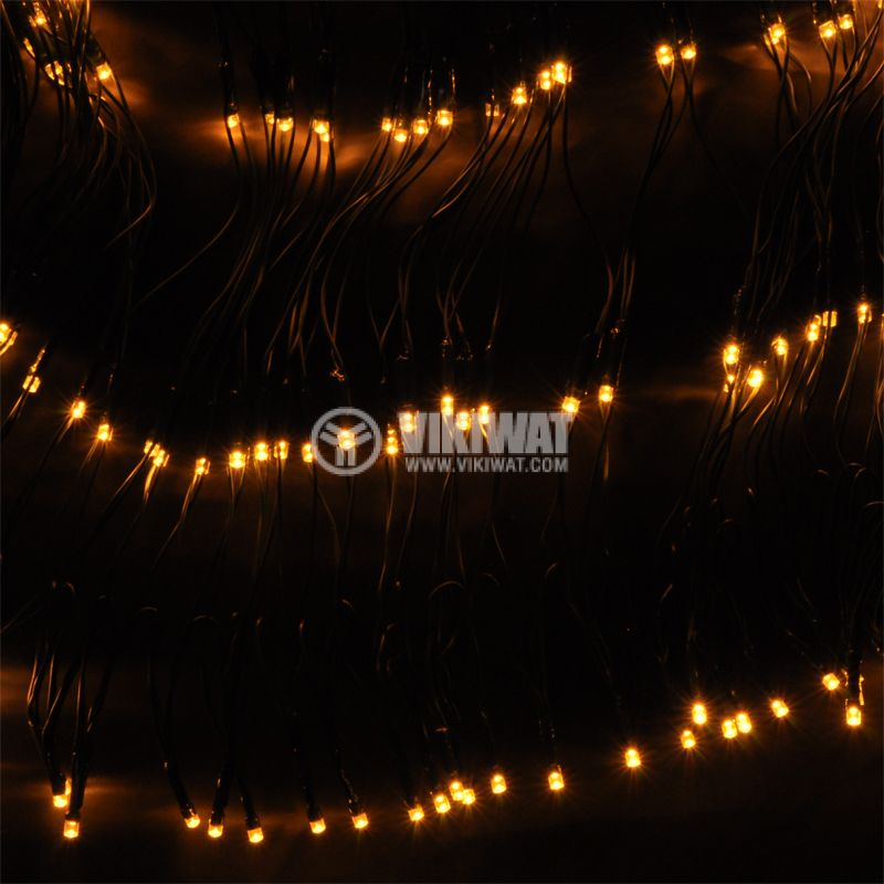 Christmas Decoration Network Type, 4x1m, 7.5W, 31VDC, Heat-White, IP44, 400 LED, Outdoor Mounting - 3