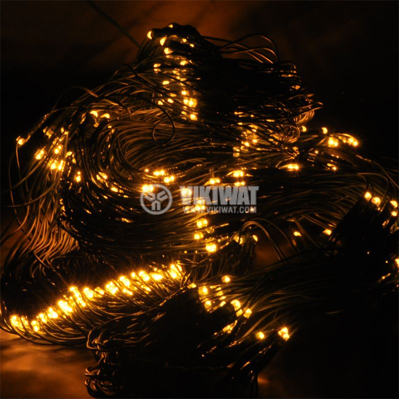 Christmas Decoration Network Type, 4x1m, 7.5W, 31VDC, Heat-White, IP44, 400 LED, Outdoor Mounting - 1