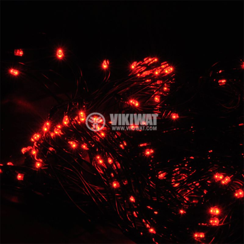 Christmas Decorating Network type, 2x1m, 3.6W, 31VDC, red, IP44, 160 LED, outdoor installation - 1