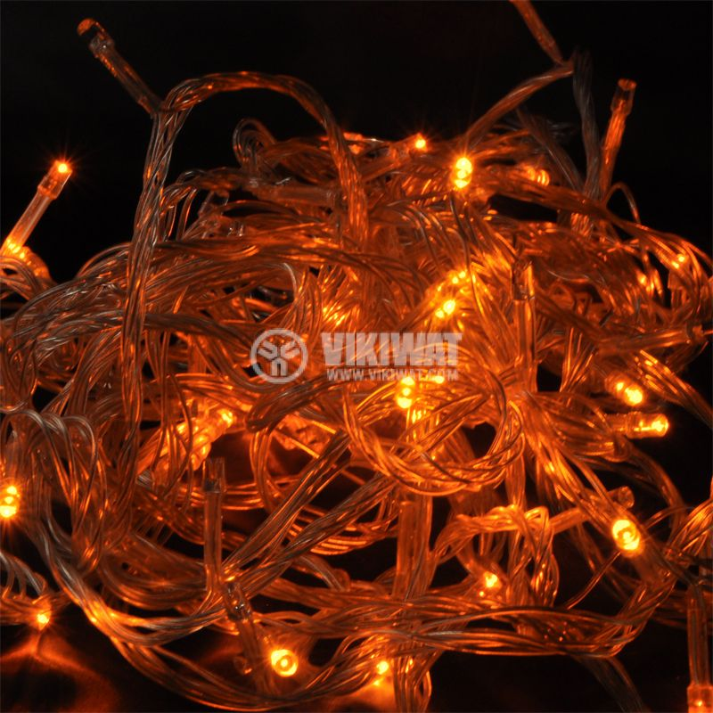 Christmas decoration type garland L1004, 10m, 6W, yellow, IP44, 120 LED, outdoor installation - 1