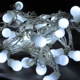 LED christmas lights type rope with balls, 5.5m, 50LEDs, cool white