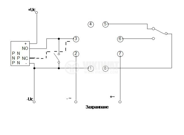 Брояч на импулси, програмируем, DH48J, 220 VAC, 4 разряден, 1- 999900, NC+NO, 8 pin - 2