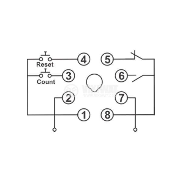 Programmable Impulse Counter, DH48J, 24 VDC, 4-digit, 1-9999 - 5