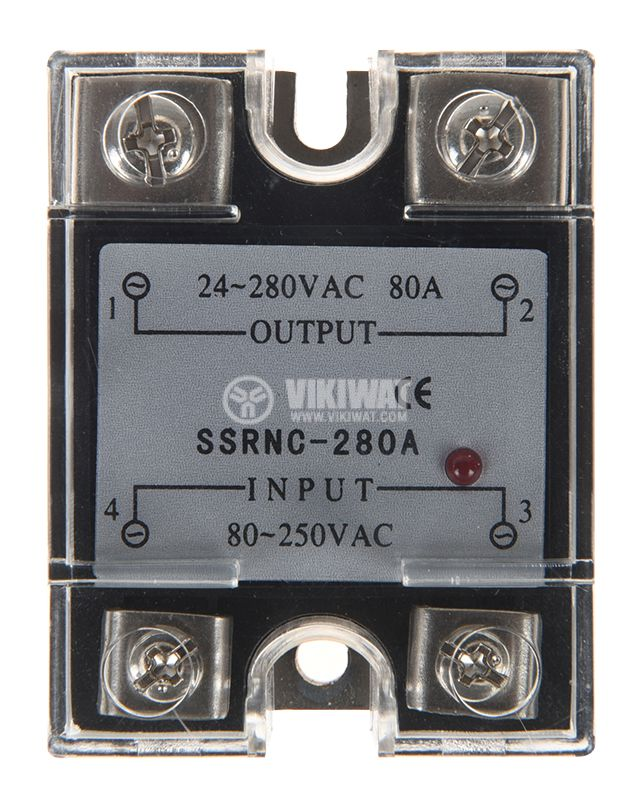 Солид стейт реле, SSRNC-280A, полупроводниково, 80A/280VAC - 2