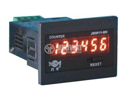 Electronical Impulse Counter, JDM11-6H2, 24 VDC, 1-999999