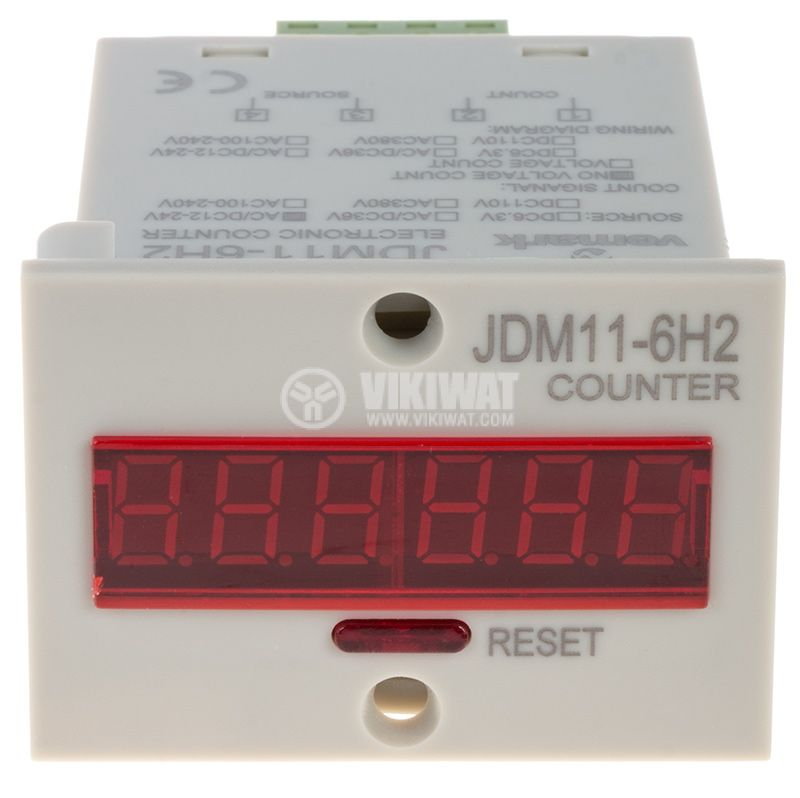 Electronical Impulse Counter, JDM11-6H2, 12 VDC, 1-999999 - 1