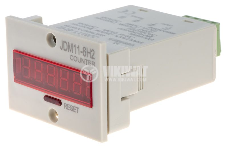 Electronical Impulse Counter, JDM11-6H2, 12 VDC, 1-999999 - 2
