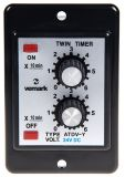 Repeat Cycle Timing Relay, ATDV-Y, 0-60min, 24VDC, NO+NC, 250VAC, 3A