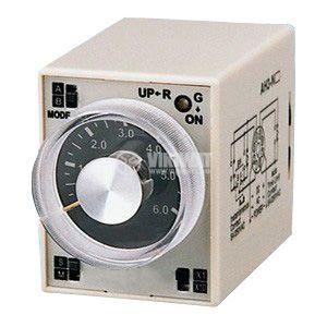 Реле за време, аналогово, AH3-2C, 12 VDC, 2NO + 2NC, 220 VAC, 10 A, 0-60 min - 1