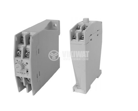 Analogue Time Relay, JSZ8-A-05, 24 VDC, 2NC +2 NO, 250 VAC, 3 A, 0 - 60 s/60 min - 1