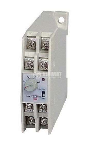Analogue Time Relay, JSZ8-C-05, 24 VDC, 2NC +2 NO, 250 VAC, 3 A, 0 - 60 s/60 min - 3