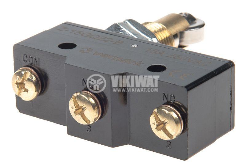 Краен изключвател SPDT-NO+NC 15A/250V - 3