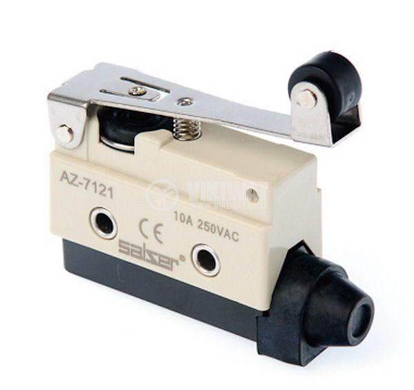 Краен изключвател, AZ7121, SPDT-NO+NC, 10A/250VAC, рамо с ролка - 1