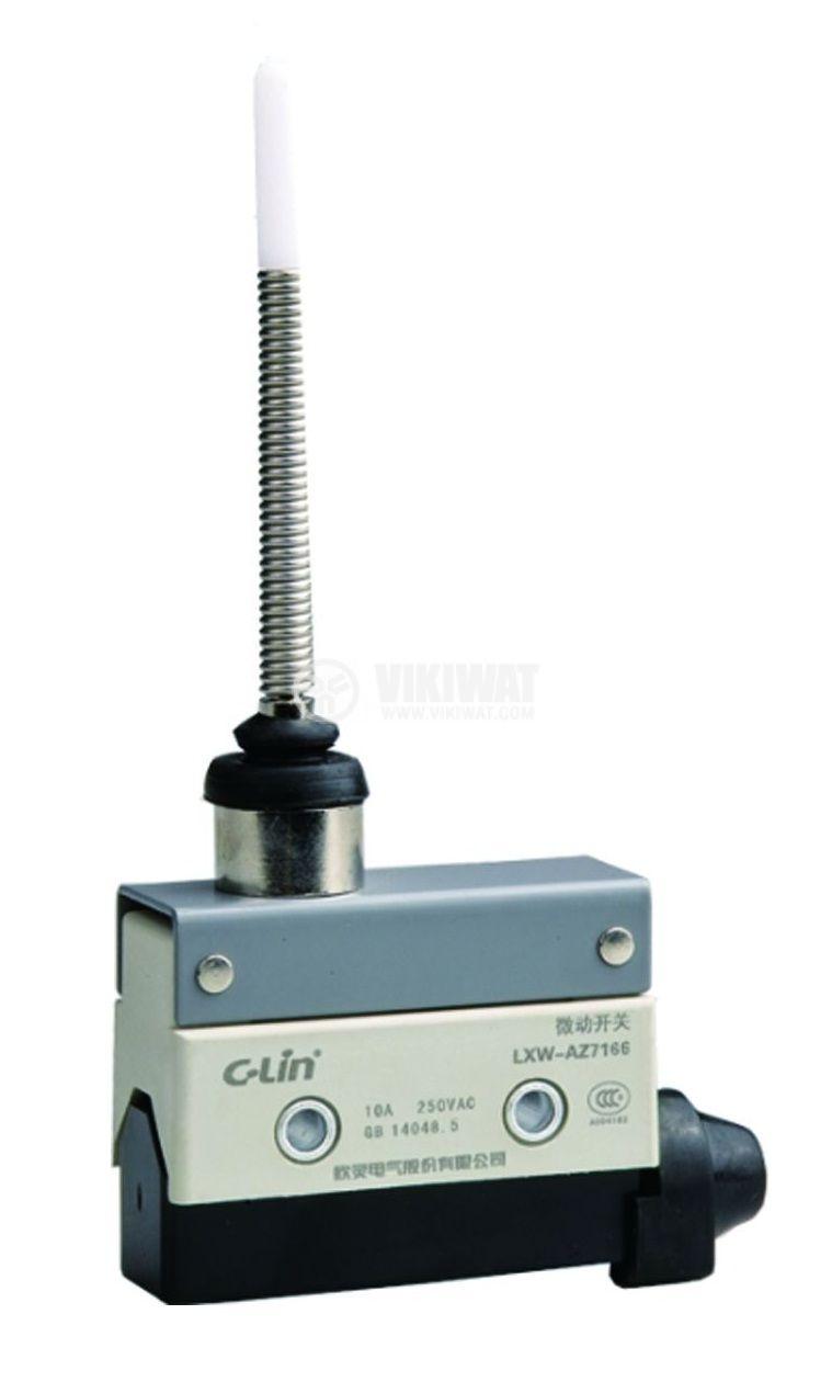 Краен изключвател, AZ7166, NO+NC, 240VAC, 10A, пружина - 1