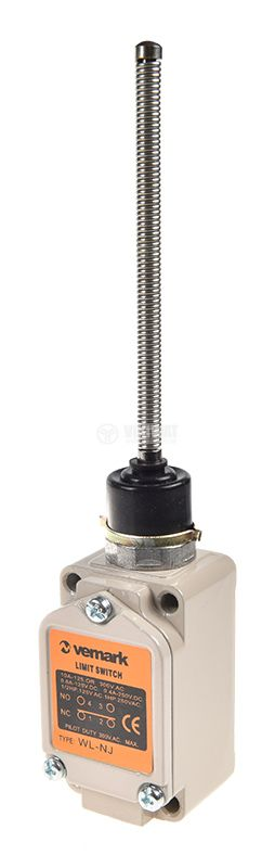 Краен изключвател, WLNJ, NO+NC, 250VAC, 10A, пружина - 1
