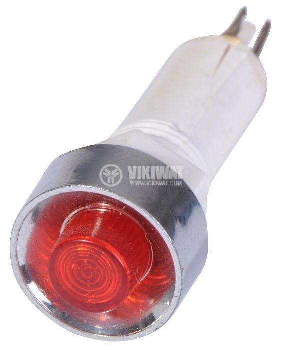 Индикаторна лампа, XH024, глим лампа, 220 VAC, червена - 2