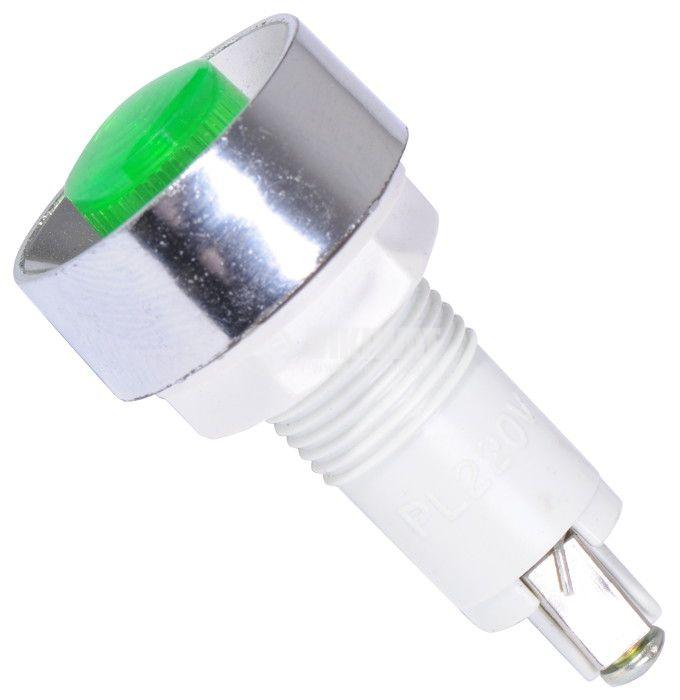 Индикаторна лампа, XH020 ,LED лампа ,220 VAC, зелена - 1