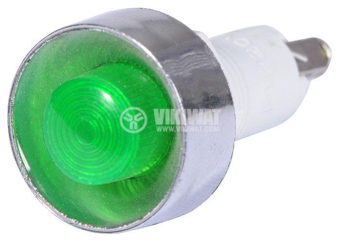 Индикаторна лампа, XH020 ,LED лампа ,220 VAC, зелена - 2