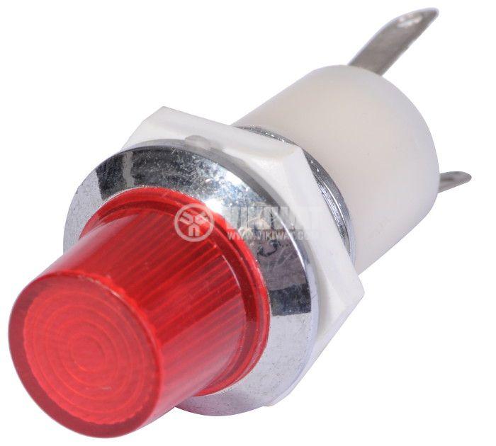Индикаторна лампа, XH014B, глим лампа, 220 VAC, червена - 2