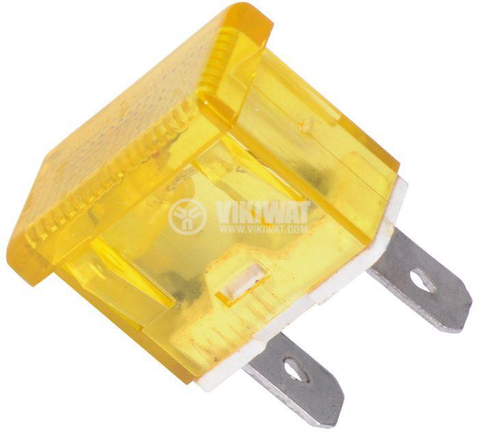 Индикаторна лампа, XH009, глим лампа ,220 VAC, жълта - 1