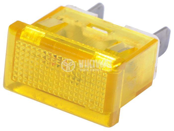 Индикаторна лампа LED, XH009, 12VDC, жълта - 2