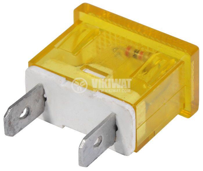 Индикаторна лампа LED, XH009, 24VDC, жълта - 3