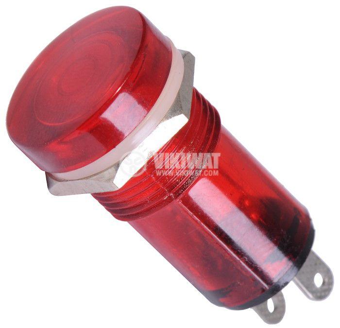 Индикаторна лампа, XH013, глим лампа, 220 VAC, червена - 1