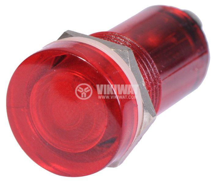 Индикаторна лампа, XH013, глим лампа, 220 VAC, червена - 2