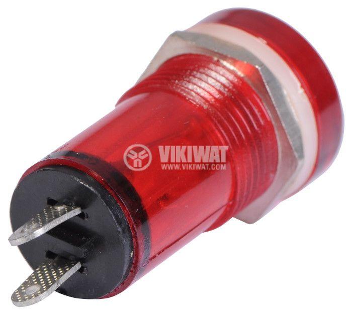 Индикаторна лампа, XH013, глим лампа, 220 VAC, червена - 3