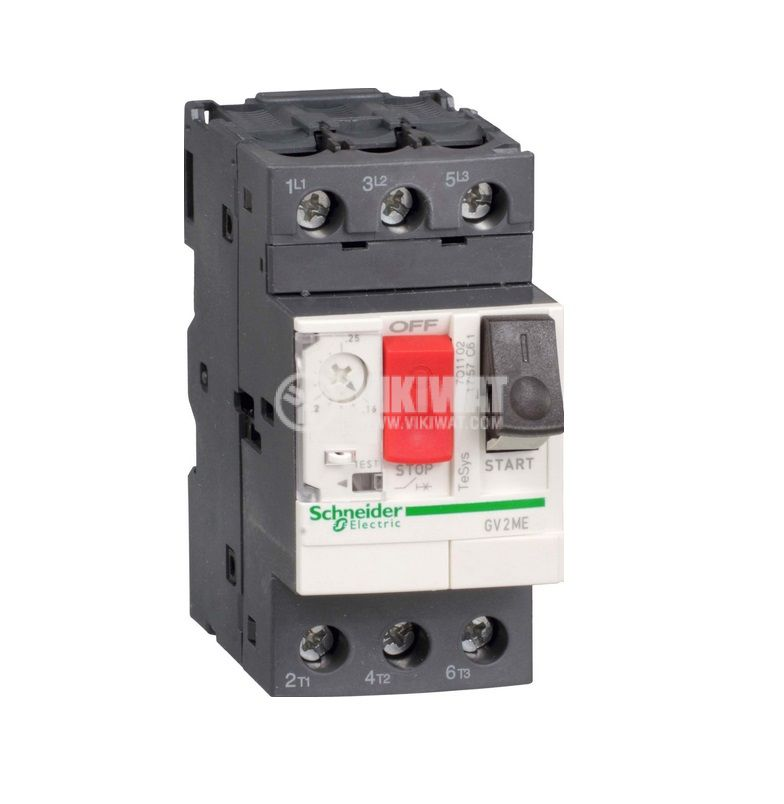 Circuit Breaker With Thermal-Magnetic Trip, GV2МЕ10, three-phase, 4 - 6.3A - 1