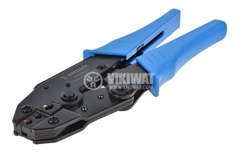 Клещи HS-30J за кербоване на изолирани кабелни накрайници 0.5-6mm2 - 3