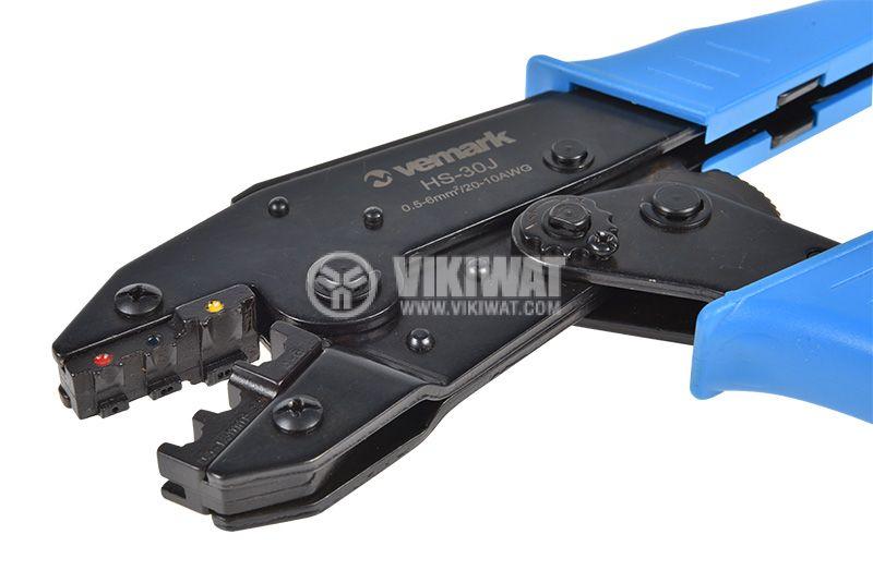 Клещи HS-30J за кербоване на изолирани кабелни накрайници 0.5-6mm2 - 4