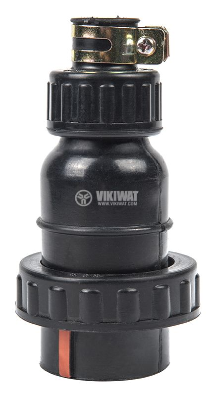 Military connector, 3P+N, 440VAC, 15A, rubber, male - 2