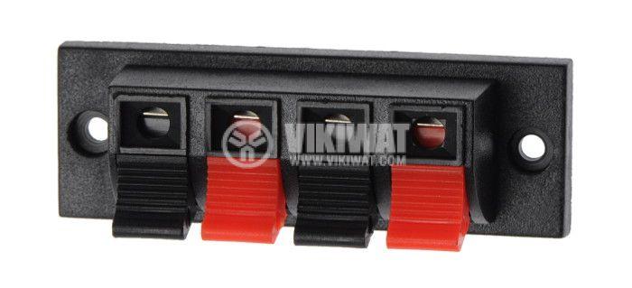 Клема за тонколони стерео правоъгълна F368 WP4-8 - 1
