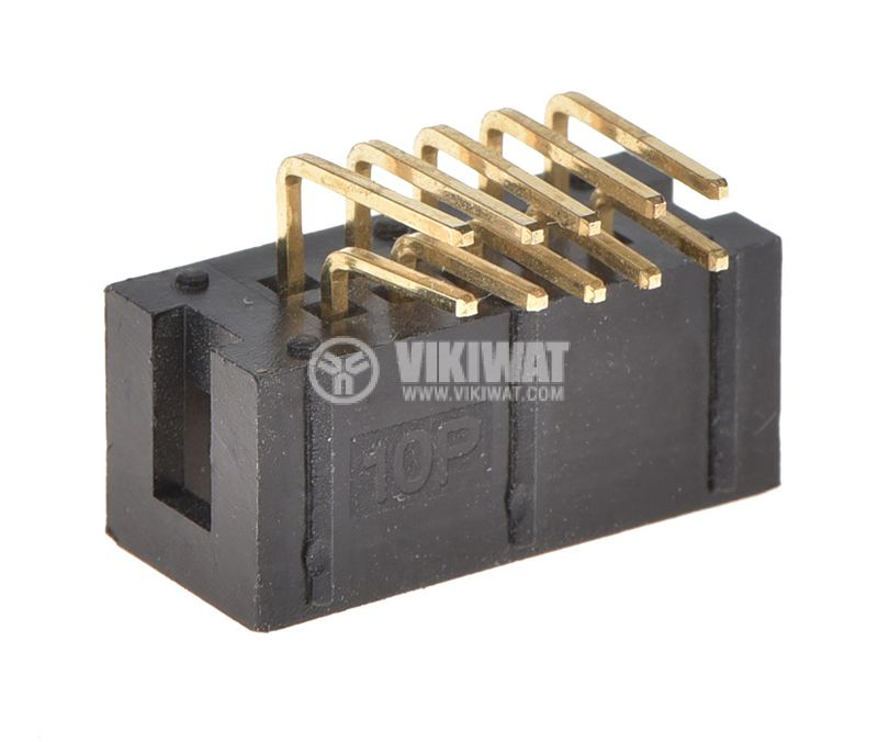 Connector, 10 pin, female, THT mount - 2