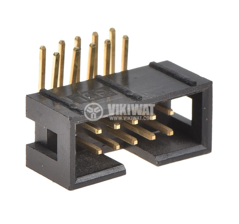 Connector, 10 pin, female, THT mount - 1