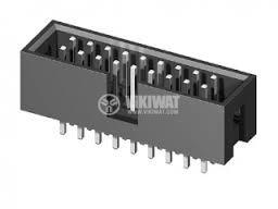 Съединител лентов щифтов /мъжки/ прав 2x8, BH16S, растер 2.54mm