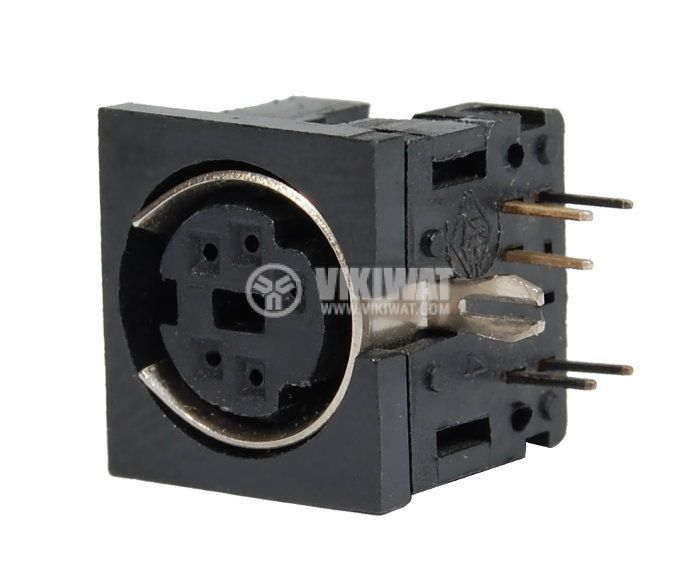 Connector, S-Video F, 5 pins - 1