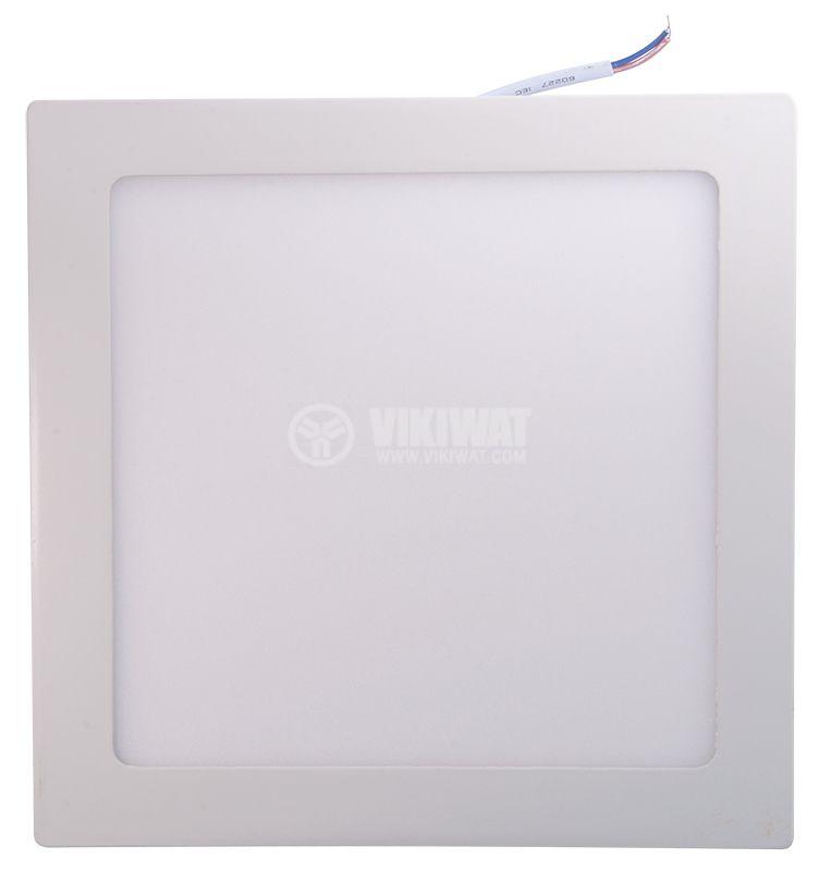 LED панел за обемен монтаж 18W, 1360lm, 220VAC, 4200K, студено бял, 220x220mm, BP04-31830 - 6