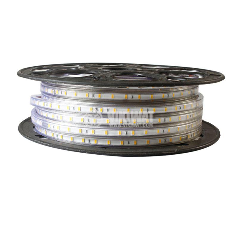 LED лента, 220VAC,  BS45-2603, 14.4W/m, IP54, 5050, червен - 5