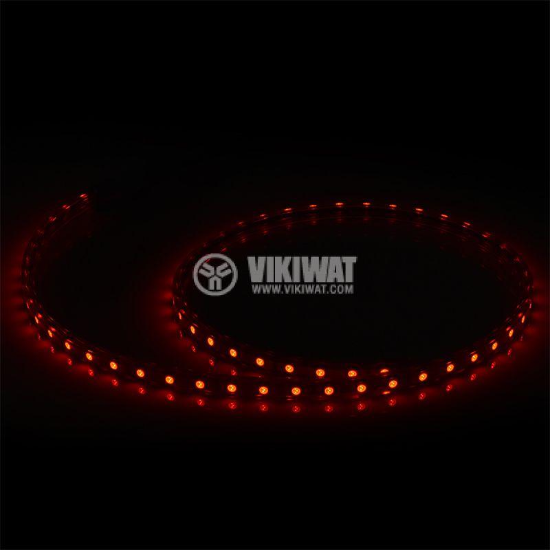 LED лента, 220VAC,  BS45-2603, 14.4W/m, IP54, 5050, червен - 3