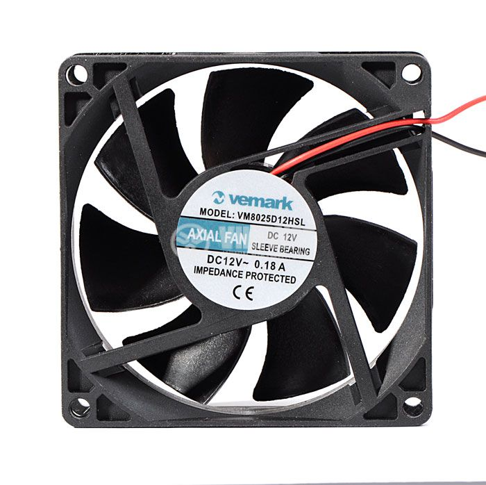 Axial Fan VM8025D12HSL, 80х80х25mm, 12VDC, 0.18A with sleeve bearing - 2