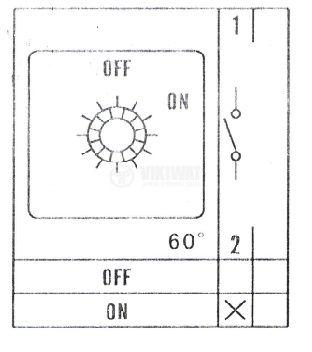 Пакетен електрически прекъсвач (ПЕП) LW26-20/1 M1I ON-OFF, 220/380 VAC, 20 A с един контакт - 3