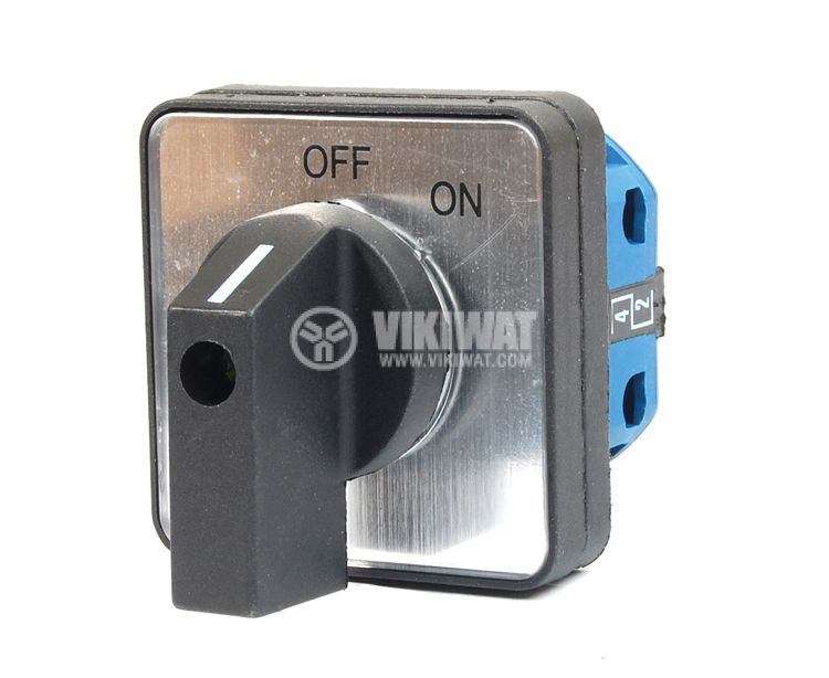 Rotary Cam Switch LW26-20/2 M1I, ON-OFF, 220/380 VAC, 20 A, 2NO - 1