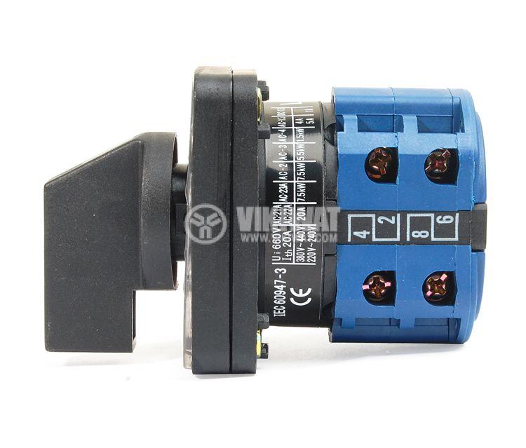 Пакетен електрически прекъсвач (ПЕП) LW26-20/4 M1I ON-OFF 220/380VAC, 20A с четири контакта - 2