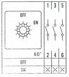 Пакетен електрически прекъсвач (ПЕП) LW26-25/3 M1I, ON-OFF, 220/380 VAC, 25 A, с три контакта - 3