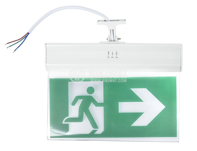 "Emergency LED fixture ""EXIT-right"", 2W, BC14-01100 - 2"
