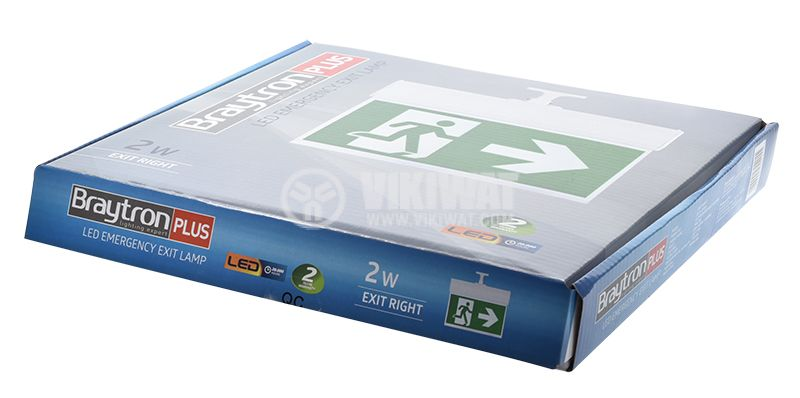"Emergency LED fixture ""EXIT-right"", 2W, BC14-01100 - 7"