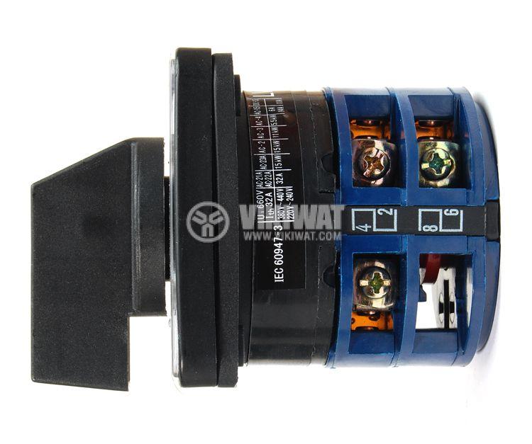 Пакетен електрически прекъсвач (ПЕП) LW26-32/3 M2I, ON-OFF, 220 / 380 VAC, 32 A, с три контакта  - 2